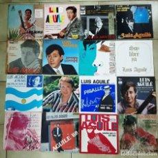 Discos de vinilo: LOTE DE 42 SINGLES Y EP'S DE LUIS AGUILÉ . Lote 194766327