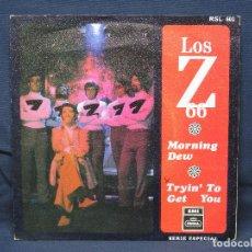 Discos de vinilo: LOS Z-66 - MORNING DEW / TRYIN' TO GET YOU - SINGLE. Lote 194768237