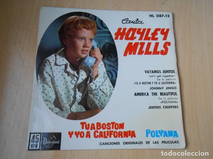 HAYLEY MILLS, EP, VAYAMOS JUNTOS (LET´S GET TOGETHER) + 3, AÑO 1962 (Música - Discos de Vinilo - EPs - Pop - Rock Extranjero de los 50 y 60)
