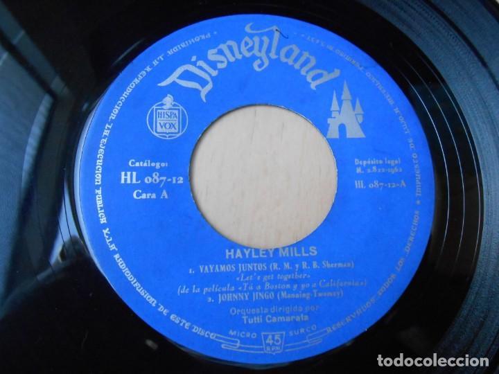 Discos de vinilo: HAYLEY MILLS, EP, VAYAMOS JUNTOS (LET´S GET TOGETHER) + 3, AÑO 1962 - Foto 3 - 194769045
