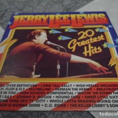 Discos de vinilo: JERRY LEE LEWIS 20 GREATES HITS. Lote 194769517