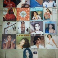Discos de vinilo: LOTE DE 17 SINGLES DE LOLITA. Lote 194769582