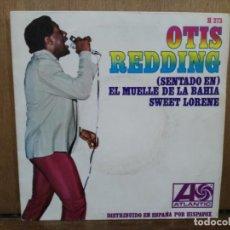 Discos de vinilo: OTIS REDING - EL MUELLE DE LA BAHÍA / SWEET LORENE - SINGLE DEL SELLO ATLANTIC 1967. Lote 194770817