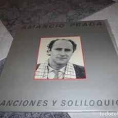 Discos de vinilo: AMANCIO PRADA CANCIONES Y SOLILOQUIOS. Lote 194770842