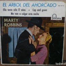 Discos de vinilo: EL ÁRBOL AHORCADO - ELLA TENÍA 17 AÑOS, ME VAN A COLGAR ESTA NOCHE... - EP. DEL SELLO FONTANA 1960. Lote 194774901
