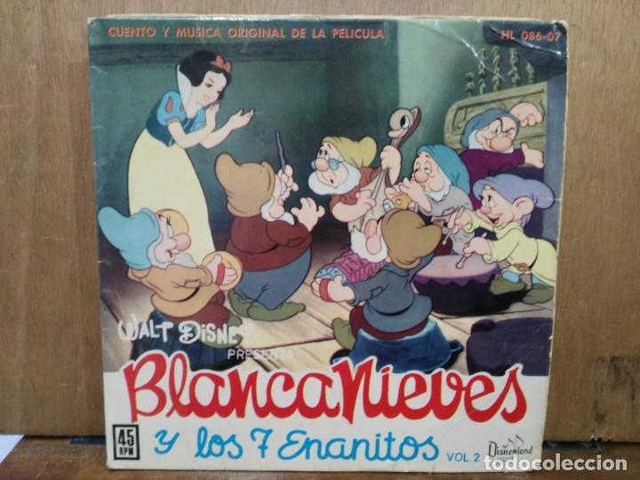 BLANCANIEVES Y LOS 7 ENANITOS (CUENTO Y MÚSICA DE LA PELÍCULA) - EP. DEL SELLO HISPAVOX 1962 (Música - Discos de Vinilo - EPs - Bandas Sonoras y Actores)