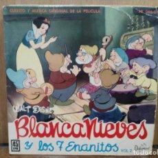 Discos de vinilo: BLANCANIEVES Y LOS 7 ENANITOS (CUENTO Y MÚSICA DE LA PELÍCULA) - EP. DEL SELLO HISPAVOX 1962. Lote 194775065