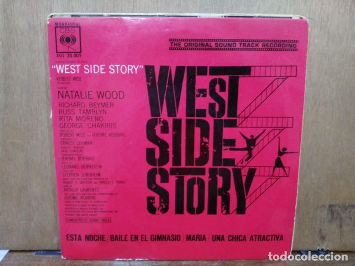 BSO WEST SIDE STORY - ESTA NOCHE, MARÍA, UNA CHICA ATRACTIVA... - EP. DEL SELLO CBS 1962 (Música - Discos de Vinilo - EPs - Bandas Sonoras y Actores)