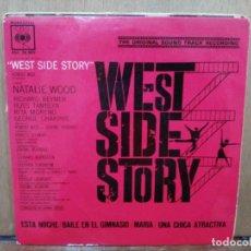 Discos de vinilo: BSO WEST SIDE STORY - ESTA NOCHE, MARÍA, UNA CHICA ATRACTIVA... - EP. DEL SELLO CBS 1962. Lote 194775777