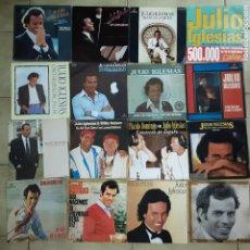 Discos de vinilo: LOTE DE 28 SINGLES DE JULIO IGLESIAS. Lote 194776225