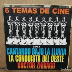 Discos de vinilo: 6 TEMAS DE CINE - DOCTOR ZHIVAGO, CANTANDO BAJO LA LLUVIA, NACIDA LIBRE... - EP. SELLO POLYDOR 1980. Lote 194776345