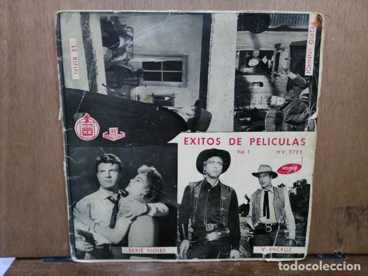 ÉXITOS DE PELÍCULAS VOL. 1 - LE RIFIFI, ME TOCA PAGAR, VERACRUZ... - EP. DEL SELLO HISPAVOX (Música - Discos de Vinilo - EPs - Bandas Sonoras y Actores)