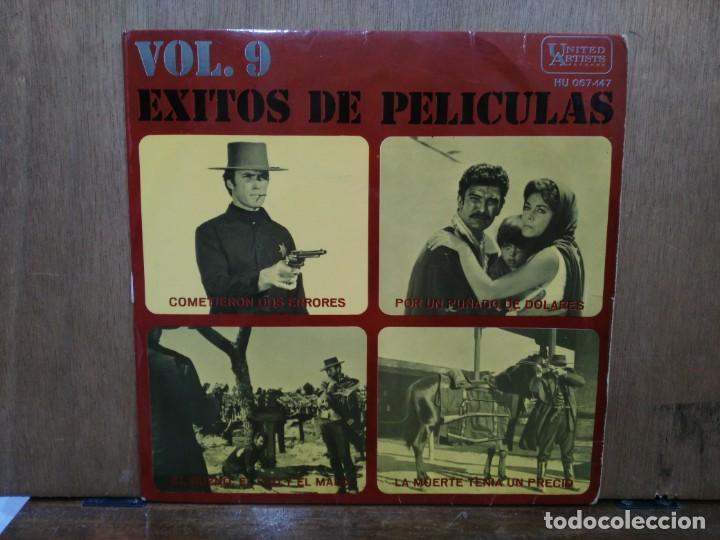 ÉXITOS DE PELÍCULAS VOL. 9 - COMETIERON DOS ERRORES, POR UN PUÑADO DE DÓLARES... - EP. UNITES ARTIST (Música - Discos de Vinilo - EPs - Bandas Sonoras y Actores)