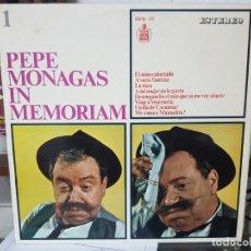 Discos de vinilo: PEPE MONAGAS IN MEMORIAM - DISCO HUMOR CANARIO - ESTEREO - 1967. Lote 194778111