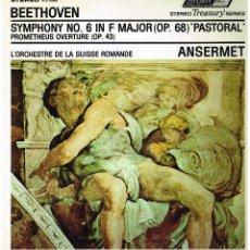 Discos de vinilo: BEETHOVEN - SINFONIA Nº 6 EN F MAJOR OP. 68 - L'ORCHESTRE SUISSE ROMANDE - ERNEST ANSERMET - LP GB. Lote 194779921