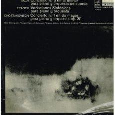 Discos de vinilo: BACH / CESAR FRANCK / CHOSTAKOVITCH - MARIA GRINBERG, PIANO - LP 1968. Lote 194780606