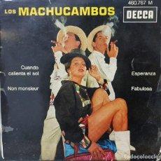 Discos de vinilo: LOS MACHUCAMBOS EP CUANDO CALIENTA EL SOL Y 3 MÁS - PARÍS FRANCIA 1962 - DECCA. Lote 194785471