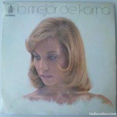 Discos de vinilo: KARINA - LO MEJOR DE KARINA (LP HISPAVOX 1973) VINILO EN MUY BUEN ESTADO. Lote 194789310