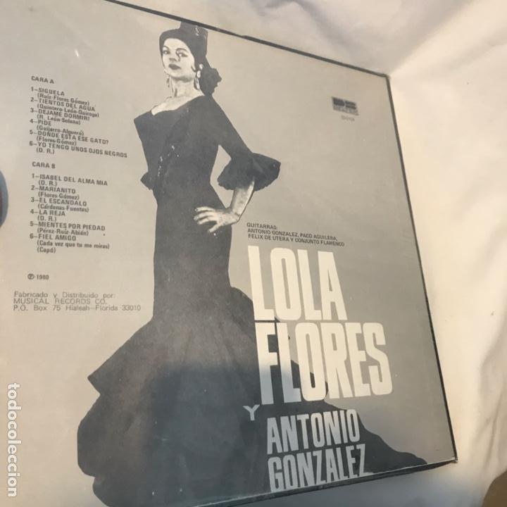 Discos de vinilo: Lola Flores Y Antonio Gonzalez – Lola Flores Y Antonio Gonzale 1980 - Foto 3 - 194789485
