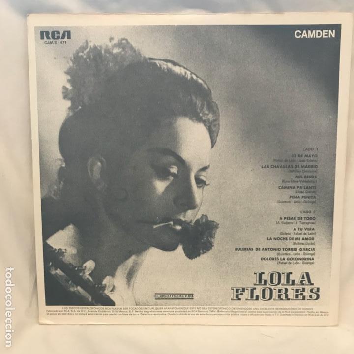 Discos de vinilo: Lola Flores – Lola Flores MEXICO 1973 - Foto 2 - 194812463