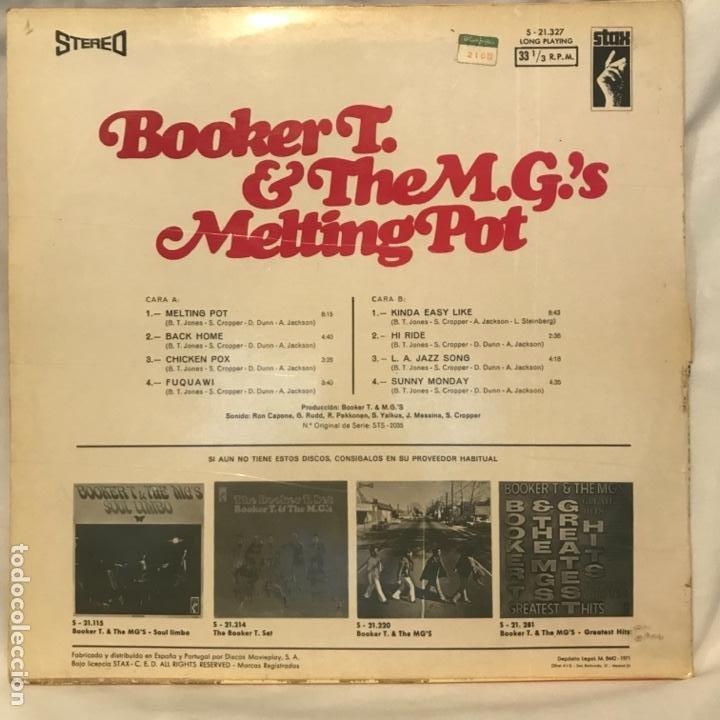 Discos de vinilo: Booker T. & The M.G.s – Melting Pot - Foto 2 - 194858692