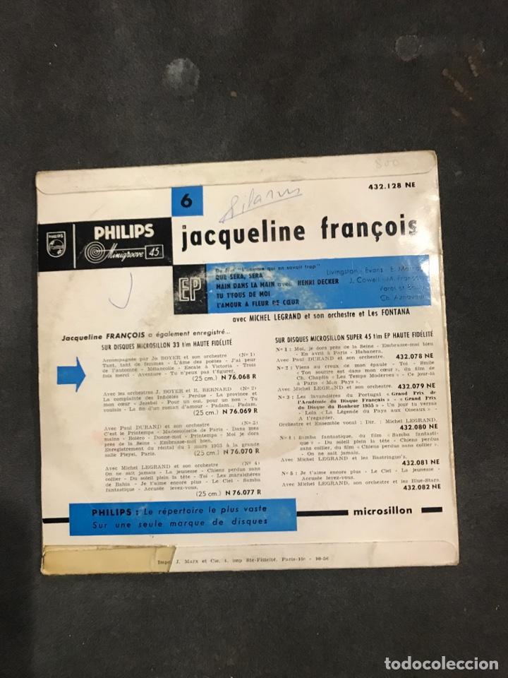 Discos de vinilo: JACQUELINE FRANCOIS SINGLE EP - Foto 2 - 194859320