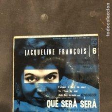 Discos de vinilo: JACQUELINE FRANCOIS SINGLE EP. Lote 194859320
