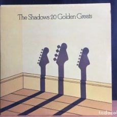 Discos de vinilo: THE SHADOWS - 20 GOLDEN GREATS (LP, COMP) (UK EDITION) EMTV 3 (D:NM). Lote 194860016