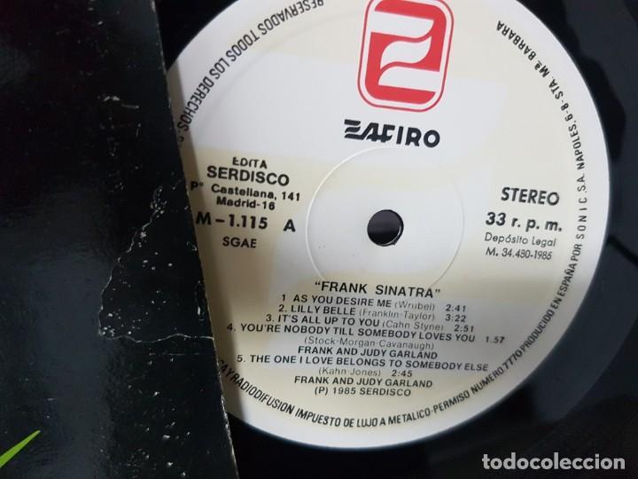 Discos de vinilo: Frank Sinatra con la participación de Judy Garland y Ella Fitzgerald - España 1985 - Foto 4 - 194860392