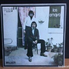 Discos de vinilo: LOS AMAYA - MUJER (SINGLE) (RCA VICTOR) PB-7675 (D:NM). Lote 194862305