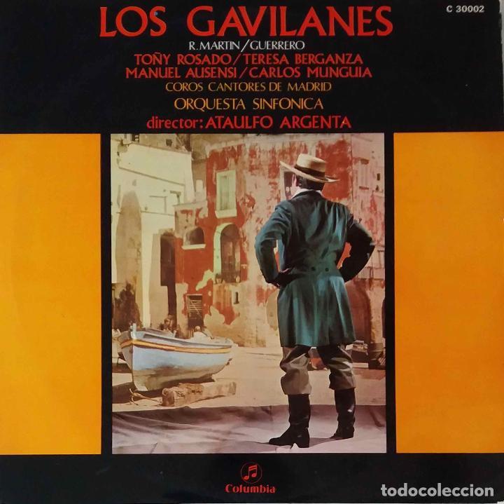 LOS GAVILANES. TERESA BERGANZA.TOÑY ROSADO.ATAULFO ARGENTA... LP (Música - Discos - LP Vinilo - Clásica, Ópera, Zarzuela y Marchas)