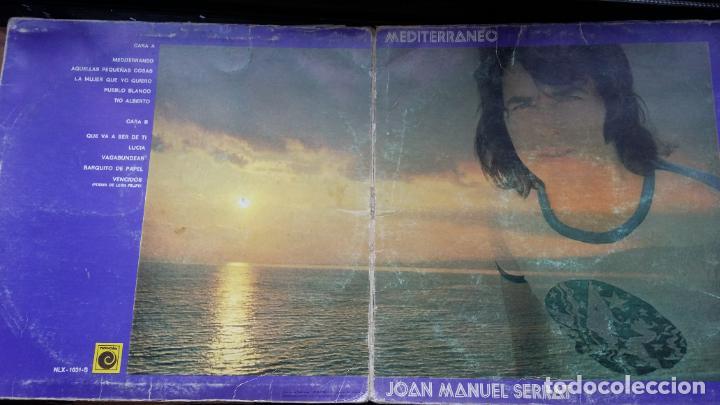 Discos de vinilo: JOAN MANUEL SERRAT - MEDITERRANEO - DOBLE CARPETA. LP SPAIN 1971 - Foto 3 - 194867483