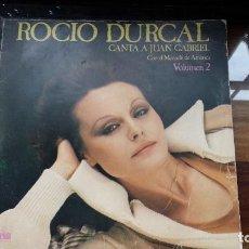 Discos de vinilo: ROCIO DURCAL CANTA A JUAN GABRIEL VOL. 2 - 1978 ARIOLA. Lote 194868403