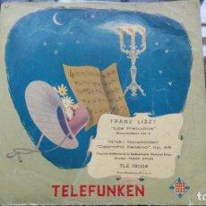 Discos de vinilo: FRANZ LISZT, LOS PRELUDIOS, TSCHAIKOWSKY, CAPRICHO ITALIANO OP 45 TELEFUNKEN. Lote 194872096
