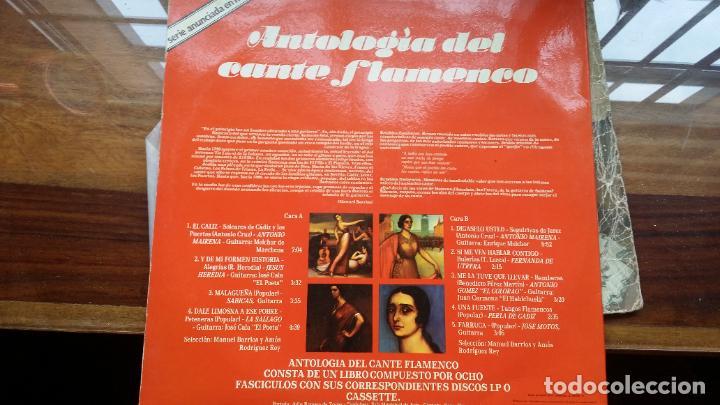 Discos de vinilo: Antologia del cante flamenco - retablo 1 - mairena, sabicas, fernanda de utrera... - Foto 2 - 194872722