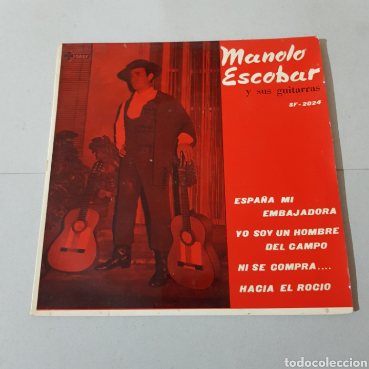 Discos de vinilo: MANOLO ESCOBAR Y SUS GUITARRAS - ESPAÑA MI EMBAJADORA - YO SOY UN HOMBRE DEL CAMPO - NI SE COMPRA .. - Foto 5 - 194872735