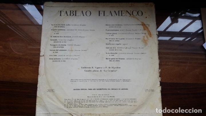 Discos de vinilo: TABLAO FLAMENCO. 1967.PERGOLA.CIRCULO DE LECTORES. - Foto 2 - 194872998