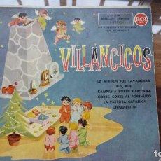 Discos de vinilo: VILLANCICOS. LA VIRGEN FUE LAVANDERA. RIN, RIN. CAMPANA SOBRE CAMPANA. CORRE, CORRE.. Lote 194873197