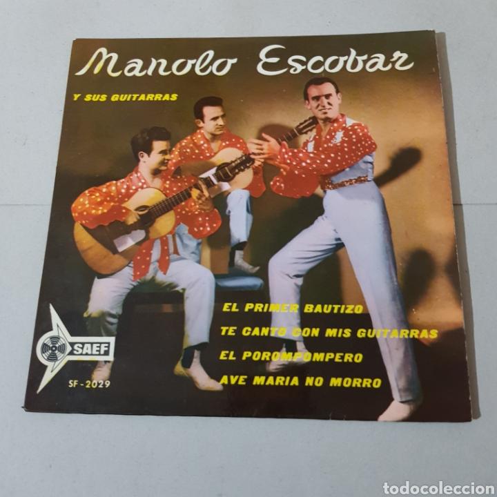 Discos de vinilo: MANOLO ESCOBAR Y SUS GUITARRAS - EL PRIMER BAUTIZO - TE CANTO CON MIS GUITARRAS - EL POROMPOMPERO .. - Foto 5 - 194874016