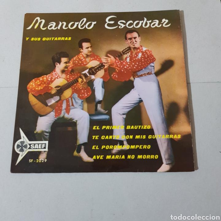 MANOLO ESCOBAR Y SUS GUITARRAS - EL PRIMER BAUTIZO - TE CANTO CON MIS GUITARRAS - EL POROMPOMPERO .. (Música - Discos - Singles Vinilo - Flamenco, Canción española y Cuplé)