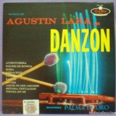 Discos de vinilo: MARIMBA PALMA DE ORO - MÚSICA DE AGUSTÍN LARA EN DANZÓN - LP ED. MEXICO CON SELLO PROMOCIONAL. Lote 194874365