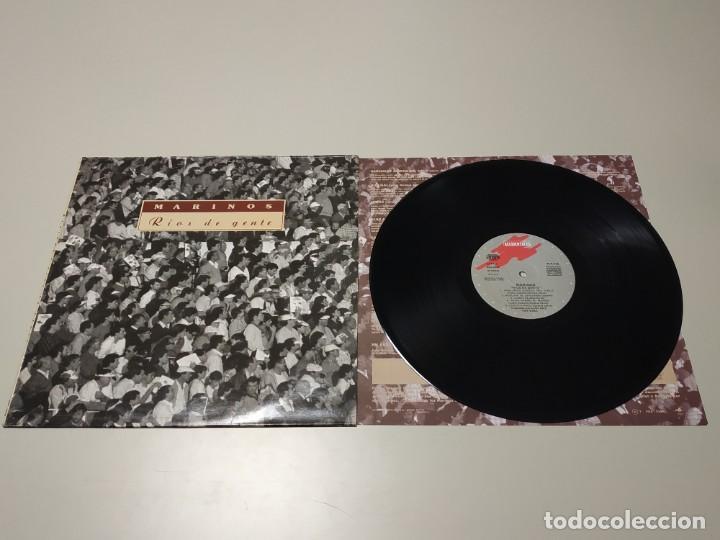0220- MARINOS RIOS DE GENTE ESPAÑA LP VIN POR VG + DIS VG + (Música - Discos - LP Vinilo - Otros estilos)