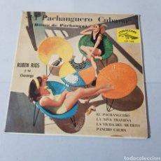 Discos de vinilo: EL PACHANGUERO CUBANO ( RITMO DE PACHANGA ) RUBEN RIOS Y SU CHARANGA - CUBALEGRE. Lote 194877837