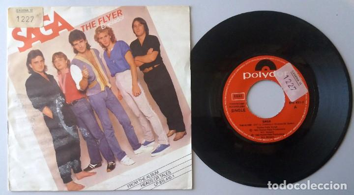SAGA / THE FLYER (EL VOLADOR) / SINGLE 7 INCH (Música - Discos de Vinilo - Singles - Pop - Rock Extranjero de los 80)