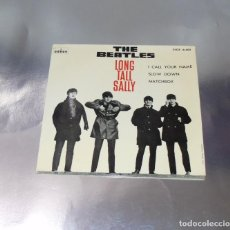 Discos de vinilo: THE BEATLES --LONG TALL SALLY & I CALL YOUR NAME & SLOW DOWN & MATCHBOX --LEVEL AZUL FUERTE. Lote 194878627