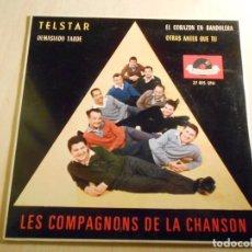 Discos de vinilo: COMPAGNONS DE LA CHANSON, LES, EP, TELSTAR + 3, AÑO 1964. Lote 194878812