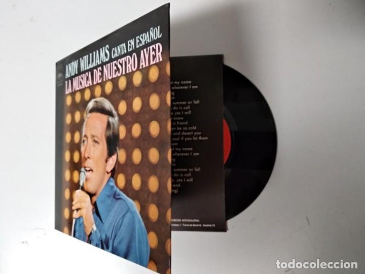 ANDY WILLIAMS / LA MUSICA DE NUESTRO AYER / 1971 (Música - Discos - Singles Vinilo - Pop - Rock - Extranjero de los 70)