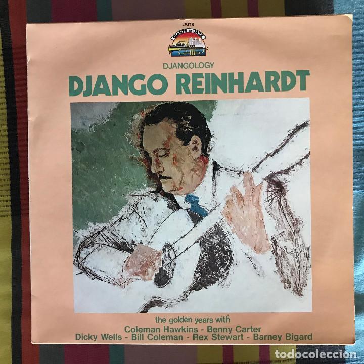 DJANGO REINHARDT - DJANGOLOGY - LP GIANTS OF JAZZ ITALIA 1984 (Música - Discos - LP Vinilo - Jazz, Jazz-Rock, Blues y R&B)