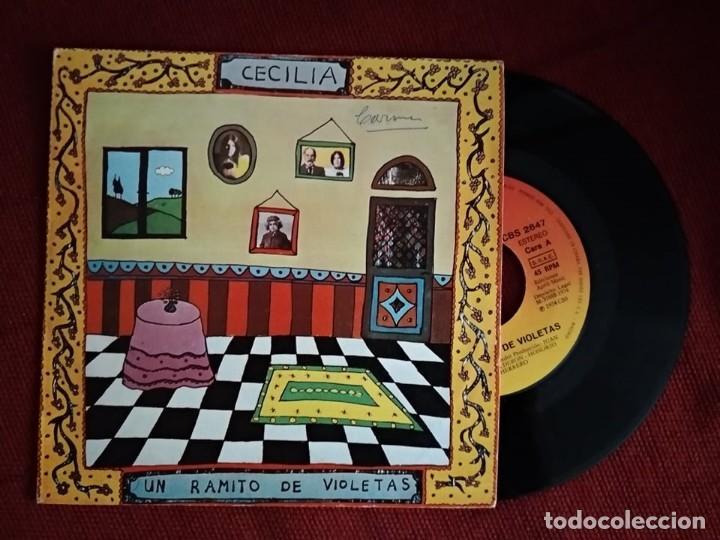 CECILIA - UN RAMITO DE VIOLETAS / LA PRIMERA COMUNIÓN, (Música - Discos - Singles Vinilo - Cantautores Españoles)