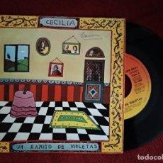 Discos de vinilo: CECILIA - UN RAMITO DE VIOLETAS / LA PRIMERA COMUNIÓN,. Lote 194882123